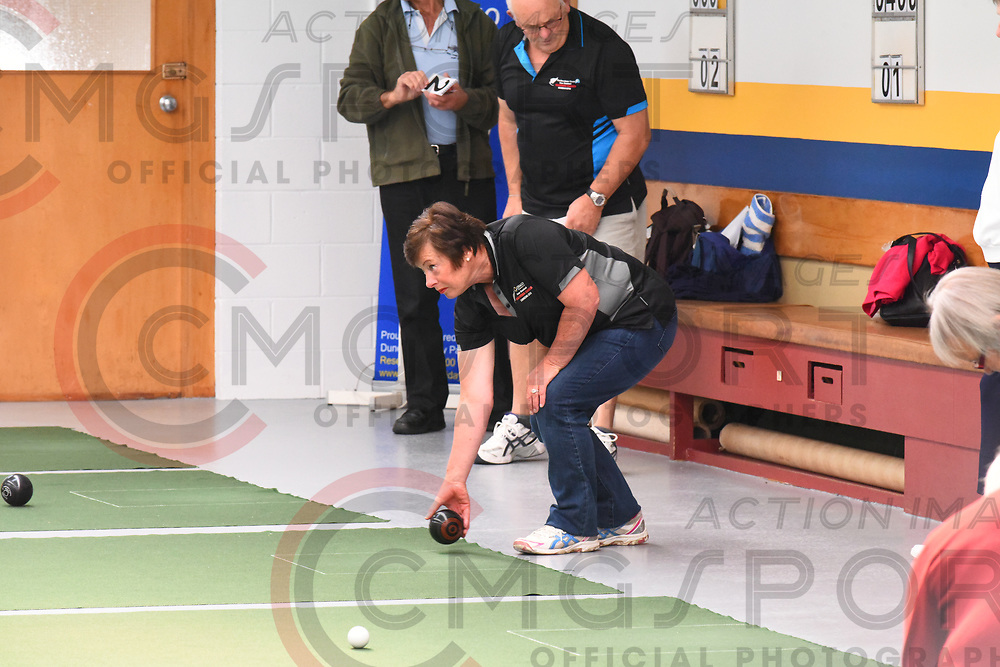 BOWLS<br /> <br /> INDOOR<br /> NZ Masters Games 2018<br /> Photo byBILL STAFFORD CMGSPORT<br /> www.cmgsport.co.nz
