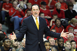 17 February 2013:  Gregg Marshall during an NCAA Missouri Valley Conference mens basketball game where the Shockers of Wichita State played the Illinois State Redbirds  in Redbird Arena, Normal IL