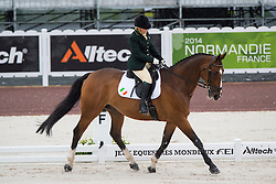 Breda Bernie, (IRL), Master Mexico - Team Competition Grade Ib Para Dressage - Alltech FEI World Equestrian Games™ 2014 - Normandy, France.<br /> © Hippo Foto Team - Jon Stroud <br /> 25/06/14
