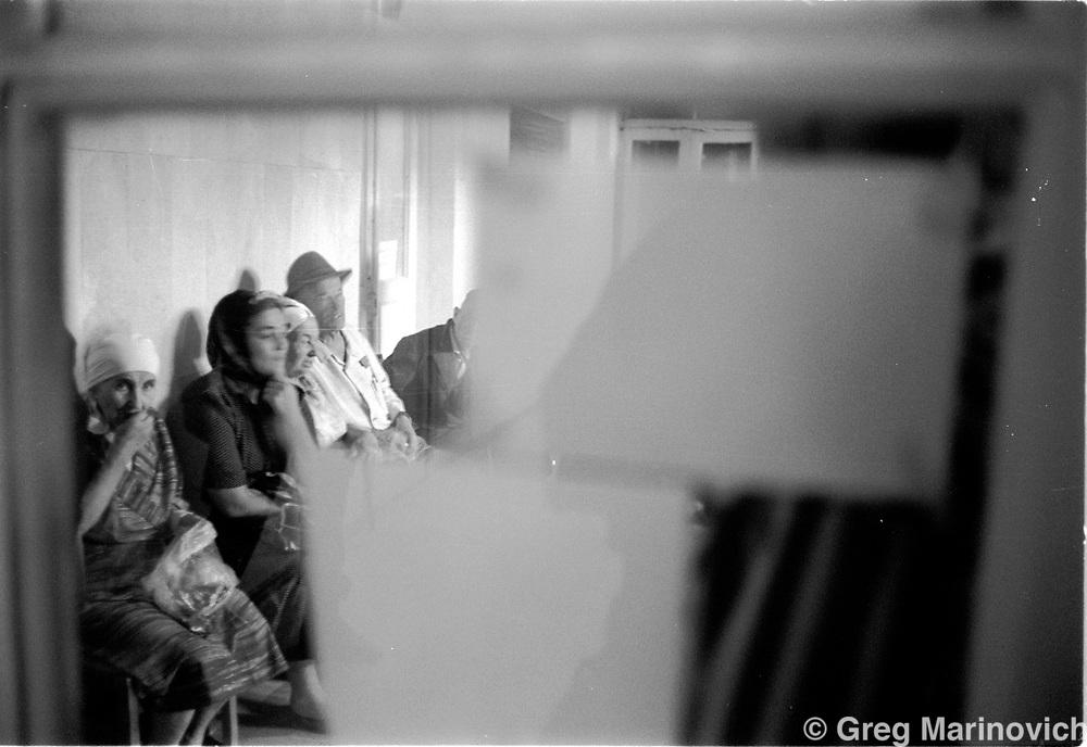 waiitng room, government building, Grozny, Chechnya, 1995. Greg Marinovich