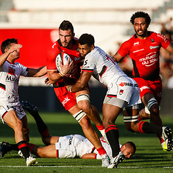 Charles Olivon of Toulon during the pre-season match between Rc Toulon and Lyon OU at Felix Mayol Stadium on August 17, 2017 in Toulon, France. (Photo by Guillaume Ruoppolo/Icon Sport)