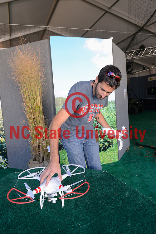 Drone demonstration at the NC State Fair. Photo by Marc Hall