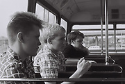 Teenagers on the bus, London, UK, 1983