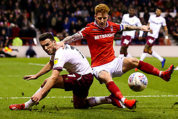 Jack Colback of Nottingham Forest is tackled by John McGinn of Aston Villa - Mandatory by-line: Robbie Stephenson/JMP - 13/03/2019 - FOOTBALL - The City Ground - Nottingham, England - Nottingham Forest v Aston Villa - Sky Bet Championship