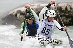 Luka Slapsak and Urban Jarc of KKK Ljubljana compete in the Men's double Canoe C-2 at kayak & canoe slalom race on May 9, 2010 in Tacen, Ljubljana, Slovenia. (Photo by Vid Ponikvar / Sportida)