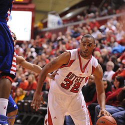 Jan 31, 2009; Piscataway, NJ, USA; Rutgers forward Jaron Griffin (32) drives into the corner during the second half of Rutgers' 75-56 victory over DePaul in NCAA college basketball at the Louis Brown Athletic Center