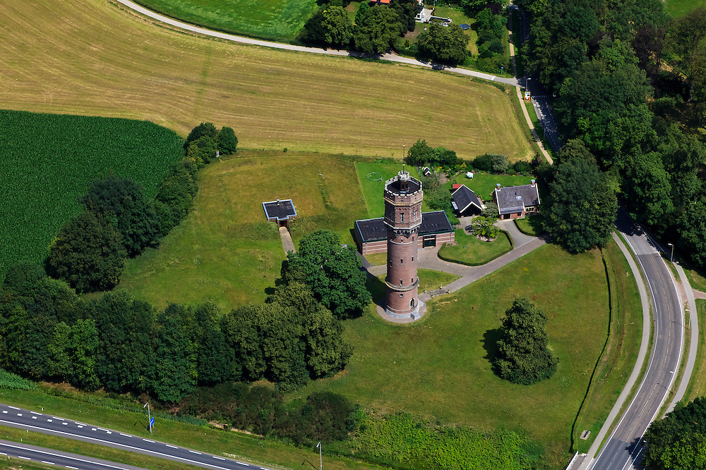 Nederland, Overijssel, Delden, 30-06-2011; watertoren van  landgoed Twickel.Water tower of the Twickel estate..luchtfoto (toeslag), aerial photo (additional fee required).copyright foto/photo Siebe Swart