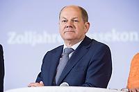 17 APR 2018, BERLIN/GERMANY:<br /> Olaf Scholz, SPD, Bundesfinanzminister, Zolljahrespressekonferenz, Bundesministerium der Finanzen<br /> IMAGE: 20180417-01-074