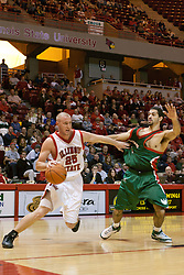 Neil Plank<br /> <br /> 03 December 2005: The Illinois State Redbirds shot a stunning 61% in the 2nd half as the University of Wisconsin Phoenix fell to the hosts  59-51during the late afternoon game at Redbird Arena in Normal IL