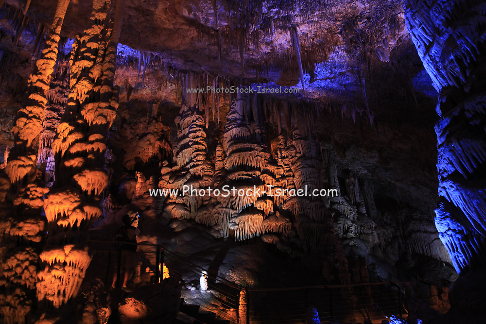 The Avshalom Stalactite Cave Nature Reserve (also called Soreq Cave) 82-meter-long, 60-meter-wide cave is on the western slopes of the Judean Hills outside the city of Beit Shemesh. Sorek Cave is famous for its beautiful formations. Stalactites and stalagmites, but also many other forms of speleothems, especially calcite crystals, helictites and cave coral,