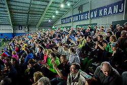 Supporters during 3rd match of Davis cup Slovenia vs. Portugal on February 1, 2014 in Kranj, Slovenia. Photo by Vid Ponikvar / Sportida