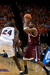 Virginia Tech guard Malcolm Delaney (23) in action against Virginia.  The Virginia Cavaliers men's basketball team faced the Virginia Tech Hokies at the John Paul Jones Arena in Charlottesville, VA on January 16, 2008.