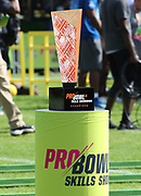 Jan 23, 2019; Kissimmee, FL, USA; The Pro Bowl Skills Challenge trophy at ESPN Wide World of Sports Complex. (Steve Jacobson/Image of Sport)