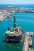 Oil Rig in for repairs at Cape Town Port