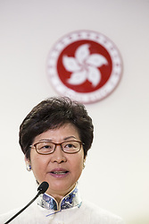 May 4, 2017 - Hong Kong, Hong Kong - The Chief Executive Elect of Hong Kong Carrie Lam  speaks during a news conference in Hong Kong on May 4, 2017. Lam appointed former head of immigration Eric Chan in charge the CE-elect's office. (Credit Image: © Chan Long Hei/Pacific Press via ZUMA Wire)