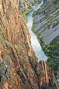 The Gunnison River in Black Canyon of the Gunnison National Park near Montrose, Colorado.