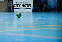 2019-04-23 | Jönköping, Sweden: Official ball of game during the qualifying game 4 to Swedish Handball League between IF Hallby HK and HIF Karlskrona at Idrottshuset ( Photo by: Marcus Vilson | Swe Press Photo )<br /> <br /> Keywords: Idrottshuset, Jönköping, Handball, Qualifying Game 4, IF Hallby HK, HIF Karlskrona, Sport, Ball
