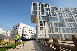 New Abu Dhabi campus of New York University (NYU) on Saadiyat Island in United Arab Emirates