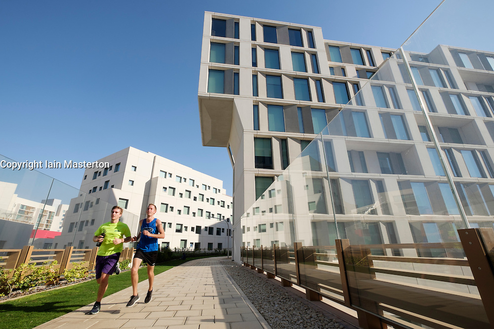 New Abu Dhabi campus of New York University (NYU) on Saadiyat Island in United Arab Emirates