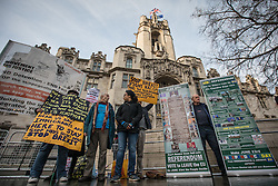 © Licensed to London News Pictures. 07/12/2016. London, UK. Pro-Remain and Pro-Brexit protesters demonstrate outside the Supreme Court in Westminster at the beginning of the third day of a Supreme Court hearing in which the British Government is appealing against the November 3 High Court ruling that Article 50 cannot be triggered without a vote in Parliament. Photo credit: Rob Pinney/LNP