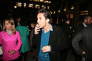 Melanie Salmon and Ben Rawlinson Plant, Other,Riyas Komu and Peter Drake. - VIP  launch of Aicon. London's largest contemporary Indian art gallery. Heddon st. and afterwards at Momo.15 Marc h 2007.  -DO NOT ARCHIVE-© Copyright Photograph by Dafydd Jones. 248 Clapham Rd. London SW9 0PZ. Tel 0207 820 0771. www.dafjones.com.