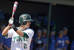 11 April 2015:  Derek Idstein during an NCAA division 3 College Conference of Illinois and Wisconsin (CCIW) Pay in Baseball game during the Conference Championship series between the Millikin Big Blue and the Illinois Wesleyan Titans at Jack Horenberger Stadium, Bloomington IL