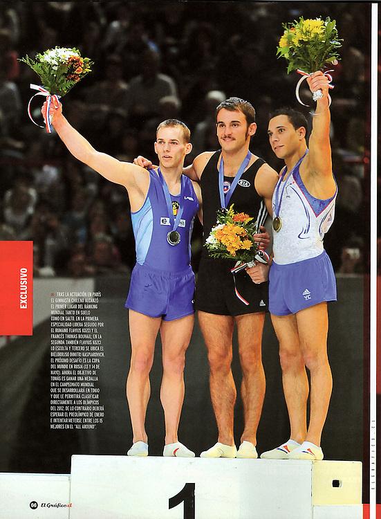 Tomas Gonzalez dans le magazine El Grafico Chile pour un sujet de 5 pages (page 5).