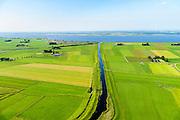 Nederland, Overijssel, Kampen, 23-08-2016; polders ten westen van Genemuiden, Kampereiland. Kamperzeedijk grenzend aan Zwarte Meer.<br /> Polders west of Genemuiden, Kampereiland. Kamperzeedijk adjacent to Black Lake.<br /> luchtfoto (toeslag op standard tarieven);<br /> aerial photo (additional fee required);<br /> copyright foto/photo Siebe Swart