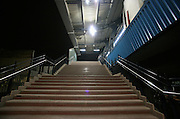 stairs at metro station, delhi, india