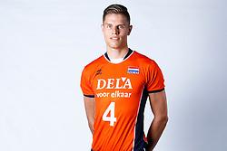 20150506 NED: Selectie Nederlands volleybal team mannen, Arnhem<br />Op Papendal werd het Nederlands team volleybal seizoen 2015-2016 gepresenteerd / Thijs ter Horst<br />©2015-FotoHoogendoorn.nl / Pim Waslander