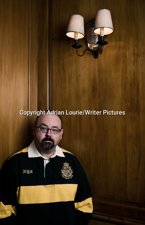 Carlos Ruiz Zafon, photographed in London<br /> <br /> copyright Adrian Lourie/Writer Pictures<br /> contact +44 (0)20 822 41564<br /> info@writerpictures.com<br /> www.writerpictures.com