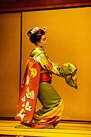 Kyomai (Kyoto style dance performed by a Maiko (Geisha)), Gion Corner, Kyoto, Japan