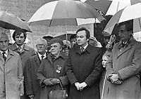 1916 Rising Commemoration ceremony held by Fianna Fail at Arbour Hill, Dublin, recital of the rosery by Capt Jack O'Connell, 03/04/1983 (Part of the Independent Newspapers Ireland/NLI Collection).(Photo by Independent News and Media/Getty Images).