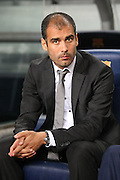 FC Barcelona's coach Pep Guardiola during the Supercup of Spain.August 23 2009.