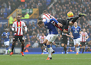 John Stones of Everton and Keith Fletcher of Sunderland in action during the Barclays Premier League match at Goodison Park, Liverpool.<br /> Picture by Michael Sedgwick/Focus Images Ltd +44 7900 363072<br /> 01/11/2015