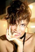 Portrait of a female dancer at Manumission, Ibiza, 2006