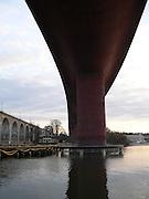 Järnvägsbroar över Årstaviken på Södra stambanan