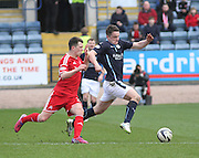 Dundee's Stephen McGinn Aberdeen&rsquo;s Ryan Jack - Dundee v Aberdeen, SPFL Premiership at Dens Park<br /> <br />  - &copy; David Young - www.davidyoungphoto.co.uk - email: davidyoungphoto@gmail.com