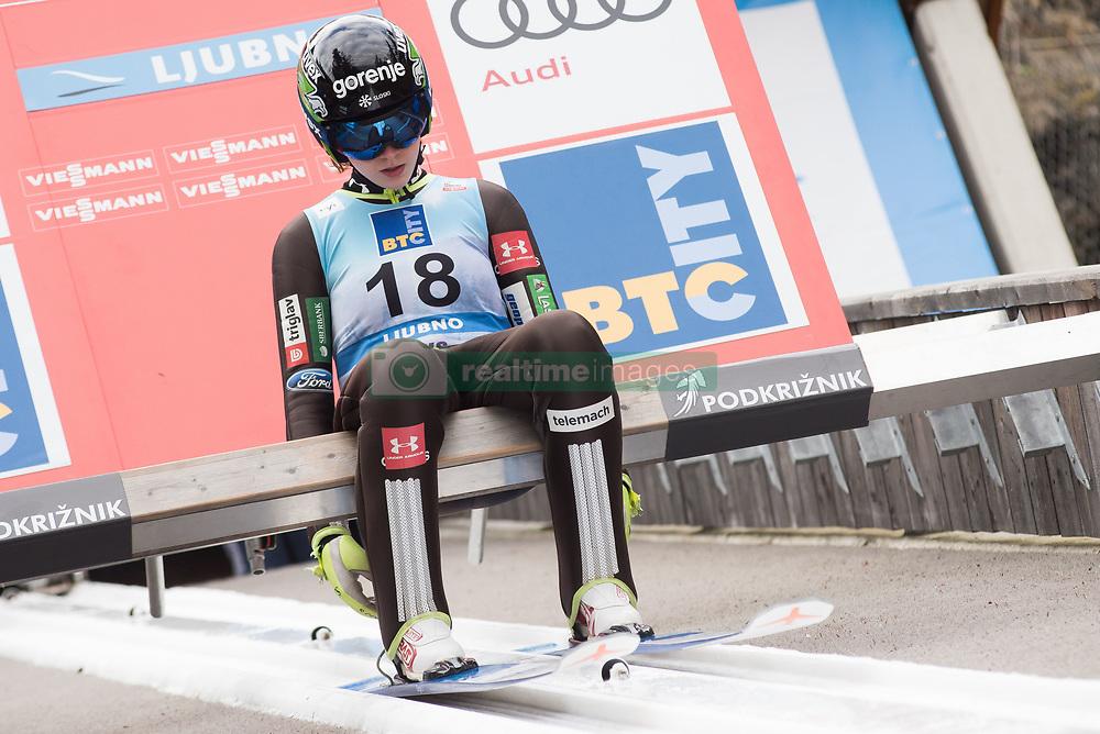 February 8, 2019 - Ljubno, Savinjska, Slovenia - Jerneja Brecl of Slovenia on first competition day of the FIS Ski Jumping World Cup Ladies Ljubno on February 8, 2019 in Ljubno, Slovenia. (Credit Image: © Rok Rakun/Pacific Press via ZUMA Wire)