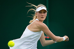 LONDON, ENGLAND - Monday, July 4, 2016:  Lucie Kankova (CZE) during the Girls' Single 1st Round match on day eight of the Wimbledon Lawn Tennis Championships at the All England Lawn Tennis and Croquet Club. (Pic by Kirsten Holst/Propaganda)