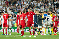 Thomas Muller and Philipp Lahm of FC Bayern Munchen during the match of Champions League between Real Madrid and FC Bayern Munchen at Santiago Bernabeu Stadium  in Madrid, Spain. April 18, 2017. (ALTERPHOTOS)