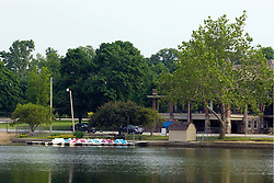 13 June 2009: Bloomington Illinois, Miller Park is a large park on the south west side of Bloomington.  It has a lake, beach house, boat rental, pavilion, zoo and other recreational opportunities.
