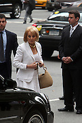Barbara Walters arrives  at the Walter Cronkite funeral at The St. Bartholomew Church on July 23, 2009 in New York City