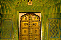 Intricate doorway, The City Palace, Jaipur, Rajasthan, India