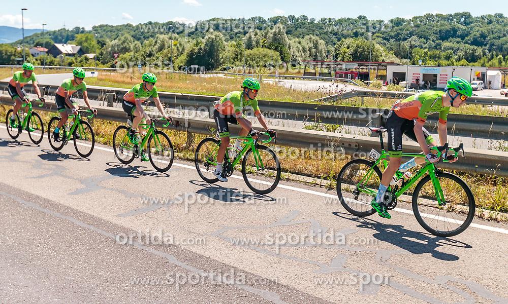 05.07.2017, Altheim, AUT, Ö-Tour, Österreich Radrundfahrt 2017, 3. Etappe von Wieselburg nach Altheim (226,2km), im Bild Andreas Graf (AUT, Hrinkow Advarics Cycleang), Dennis Paulus (AUT, Hrinkow Advarics Cycleang), Dominik Hrinkow (AUT, Hrinkow Advarics Cycleang), Florian Gaugl (AUT, Hrinkow Advarics Cycleang), Nils Friedl (AUT, Hrinkow Advarics Cycleang) // Andreas Graf (AUT, Hrinkow Advarics Cycleang), Dennis Paulus (AUT, Hrinkow Advarics Cycleang), Dominik Hrinkow (AUT, Hrinkow Advarics Cycleang), Florian Gaugl (AUT, Hrinkow Advarics Cycleang), Nils Friedl (AUT, Hrinkow Advarics Cycleang) during the 3rd stage from Wieselburg to Altheim (199,6km) of 2017 Tour of Austria. Altheim, Austria on 2017/07/05. EXPA Pictures © 2017, PhotoCredit: EXPA/ JFK