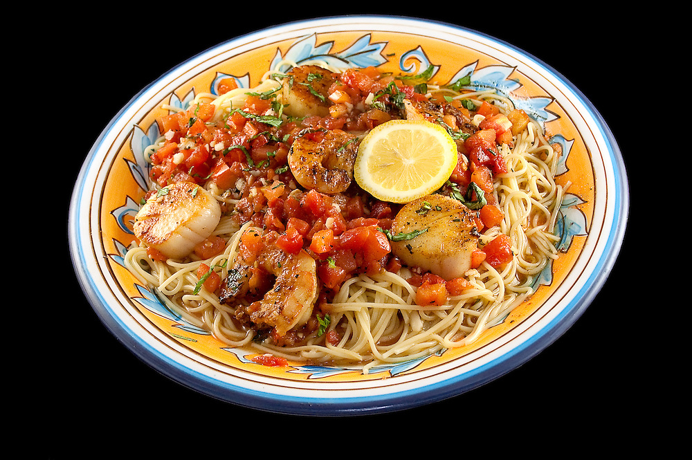Shrimp & Scallops with Fresh Tomato and Basil
