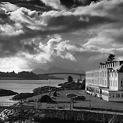 The Lochalsh hotel and the Skye bridge, Kyle