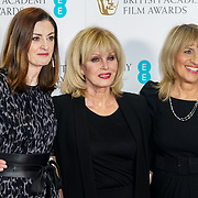 London, England, UK. 9th January 2018. Amanda Berry, Joanna Lumley,Jane Lush attend EE British Academy Film Awards Nominations, London, UK