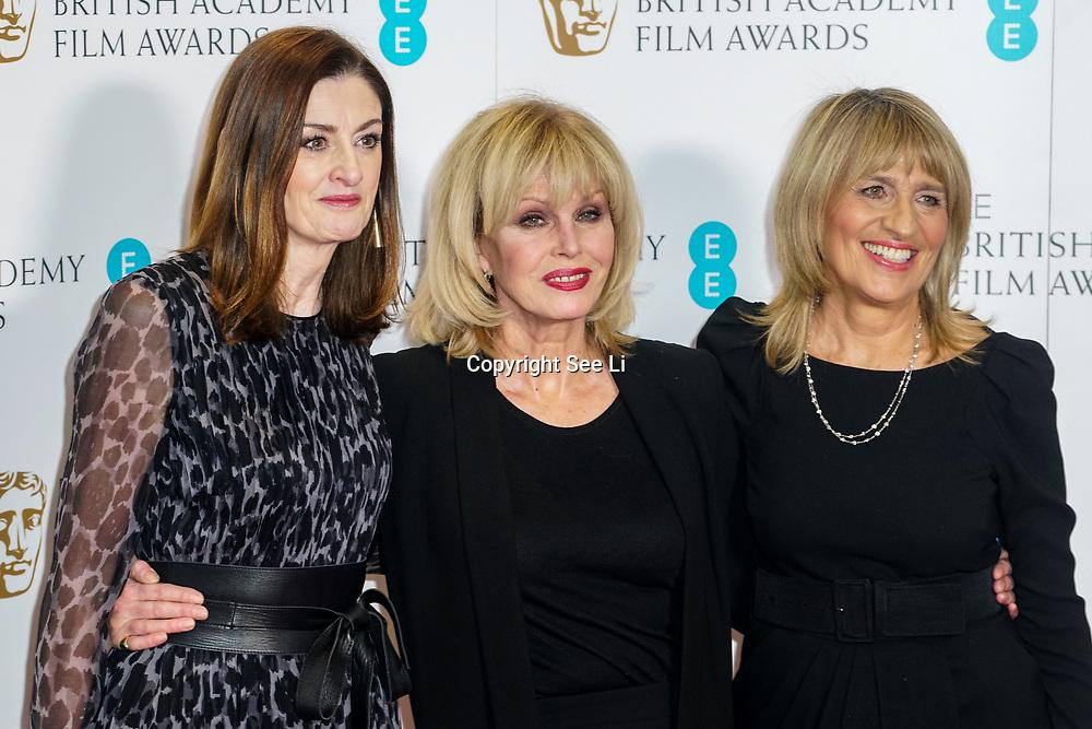 London, England, UK. 9th January 2018. Amanda Berry, Joanna Lumley,Jane Lush attend EE British Academy Film Awards Nominations, London, UK