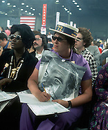 ..A George McGovern supporter at the Democratic Convention in 1972...Photo by Dennis brack B 6